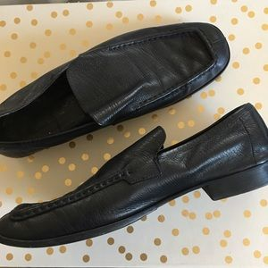 Men's black leather Gucci Loafers